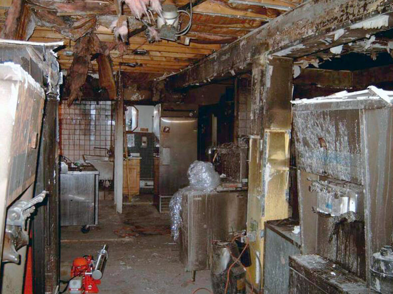 This is a kitchen that was burned in a house fire. Would you be able to remember all the items and appliances in your kitchen if you experienced a fire like this?